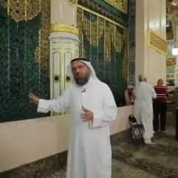 صورة خادم الحرمين تزين برج بريدة التاريخي