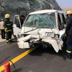 إسعاف الطائف .. يباشر حادث سير بالنفق الجديد