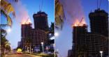 حريق في برج سكني بكورنيش جدة والدفاع المدني يباشر