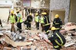 وفاة شخص وإنقاذ 3 إثر انهيار منزل بسبب أمطار جدة