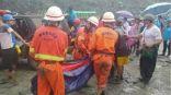 مصرع 50 شخصًا على الأقل في انهيار أرضي شمال بورما