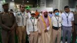 الشيخ السديس يلتقي أفراد الكشافة المشاركين في خدمة قاصدي المسجد الحرام
