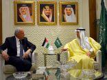 معالي وزير الخارجية يستقبل نظيره الفلسطيني