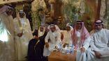 ابن طالع يحتفل بعقد قران إبنته للشاب أيمن الزهراني