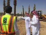 أمين جدة يقف على مشروع ميدان الفلك وحديقة الأمير ماجد