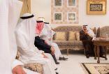 أمير الباحة يعزي رئيس جمعية إكرام .. و يزور د . هجاد