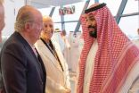 ولي العهد يلتقي ملك إسبانيا السابق ورئيس جمهورية الشيشان في أبوظبي