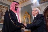 برقية شكر من ولي العهد إلى الرئيس التونسي