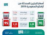 أرامكو تعلن مُراجعة أسعار البنزين خلال الربع الحالي أبريل – يونيو 2019م