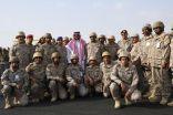 بعد يوم من تعيينه .. الأمير خالد .. في الحد الجنوبي