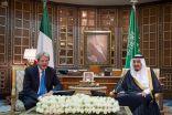 خادم الحرمين الشريفين يعقد جلسة مباحثات رسمية مع دولة رئيس وزراء إيطاليا