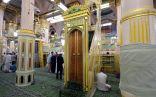 الروضة الشريفة قطعة من الجنة بالمسجد النبوي