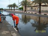 (9) جهات حكومية تنجح في مواجهة الأمطار بالقطيف