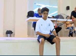 عبدالمجيد المالكي أفضل لاعب أسكواش عربي واعد