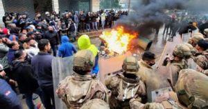أعمال عنف بين مشاركين في إحياء الذكرى الأولى لانفجار ميناء بيروت والأمن يتدخل