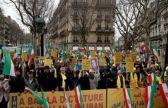 وقفة احتجاجية في باريس ضد التدخلات الإيرانية في الشؤون العربية