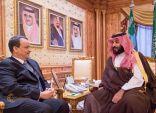 ولي العهد يبحث مع المبعوث الأممي مستجدات الأحداث باليمن