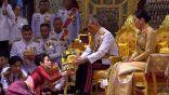 بحضور زوجته التي تزوجها قبل أشهر.. ملك تايلاند يعقد قرانه على ممرضة