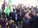 """مسيرة طلاببة جماهيرية حاشدة ضمت اكثر من 2000 شخص معلنين الرفض للاعتراف الامريكي القدس عاصمة لما يسمى ب""""اسرائيل """""""