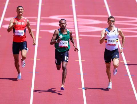 مازن الياسين يحل رابعًا في سباق 400 متر.. ويودع أولمبياد طوكيو