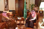 الأمير مشعل بن ماجد بن عبدالعزيز محافظ جدة يستقبل أمين محافظة جدة