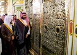ولي العهد يستقل قطار الحرمين في زيارته للمسجد النبوي