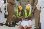 الدفاع المدني يقدم خدماته الطبية للحجاج في عرفة