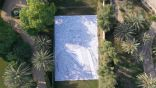بورتريه لولي العهد على مساحة 600 متر مربع بأسماء مدن وقرى المملكة