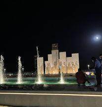 ميدان العرضة .. تحفة فنية تجسد الإرث الوطني
