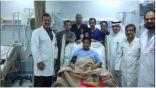 إنقاذ حياة مواطن تعرض لشظايا في الصدر بنجران