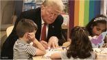ترامب يخطئ في رسم العلم الأمريكي
