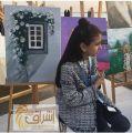 الفنانه التشكيلية الصغيرة ليان الزهراني تتالق وتبدع في معرض 180Degrees بشاطئ العزيزية