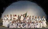 اشبال بني يوسف في افتتاح مسابقة سوق عكاظ للفنون الشعبيه