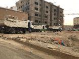 حملة لإزالة مخلفات البناء بشوقية مكة