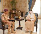خالد الفيصل ونائبه يلتقيان قائد قوة الأمن الخاصة الثانية اللواء ركن الحربي