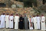 رئيس المنظمة العربية للسياحة يزور قصر بن رقوش وقرية الاطاولة الاثرية وكهوف شدا