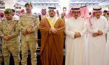 نائب امير منطقة الرياض يؤدي صلاة الميت على الشهيد الفيفي وينقل تعازي القيادة لأسرة الشهيد