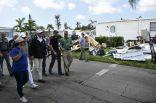 دونالد ترامب يتفقد ضحايا الإعصار في فلوريدا