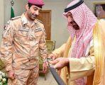 أمير نجران في استقبال قائد القوة القطرية المشاركة في التحالف