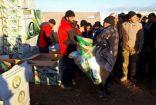 """الحملة السعودية تواصل تقديم المساعدات الاغاثية للنازحين السوريين ضمن مبادرة """" لأجلك يا حلب """""""