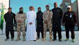 قوات الأمن تحتفل بذكرى البيعة بتقديم عرض احترافي جوي للقفز الحر