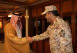 الأمير مشعل بن بدر يتلقى التهاني من قادة القطاع الشرقي
