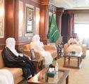 سمو نائب أمير منطقة جازان يستقبل رئيس محكمة الاستئناف والقضاة