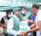 """""""الملك سلمان للإغاثة"""" يواصل تقديم المواد الغذائية لمتضرري انفجار بيروت"""