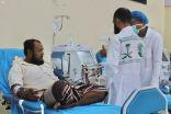 المستفيدون من خدمات مركز الغسيل الكلوي بالغيضة في اليمن يشكرون المملكة على علاجهم.