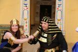 زفاف فرعوني لعروسين برازيليين في القرية الفرعونية