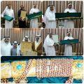 بعد خدمة البريد السعودي 37 عاما يلقى التكريم من أخيه الشيخ غرم الله الزهراني بحضور الأهل والاصدقاء