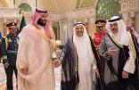 مأدبة العشاء التي أقامها أمير الكويت للأمير محمد بن سلمان