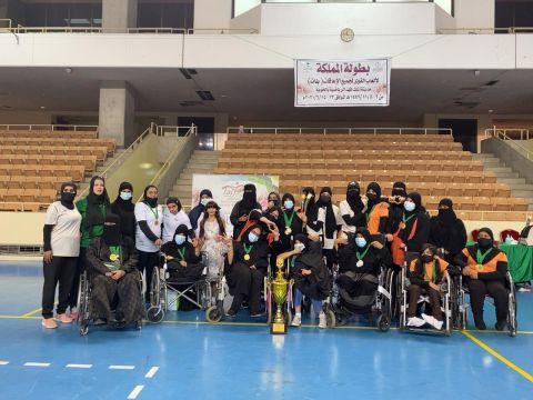 نادي تبوك النسائي لذوي الإعاقة يحقق لقب أول بطولة نسائية في المملكة لألعاب القوى