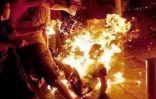فلسطيني يقتل أبناءه ويشعل النار في نفسه